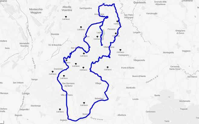Monti Berici Cartina Italia.Monti Berici Tra Curve Panorami E Magnifiche Ville Venete Id 139