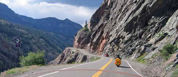 Strade avventura in moto: Million Dollar Highway in Colorado