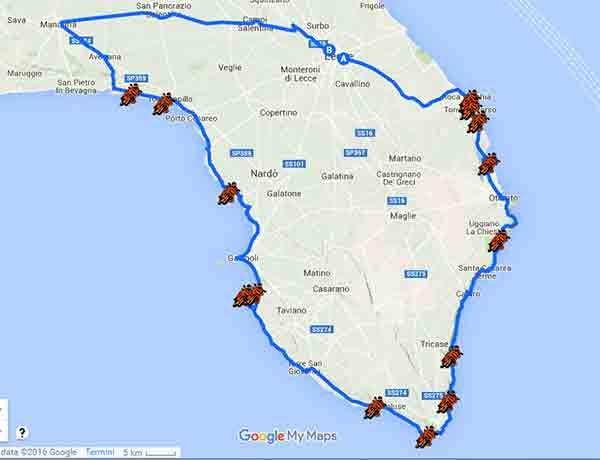 Puglia Spiagge Piu Belle Cartina.In Moto Alla Ricerca Delle Spiagge Piu Belle Del Salento Id 179